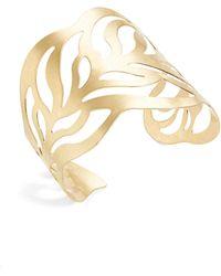 Panacea - Cutout Leaf Cuff Bracelet - Lyst