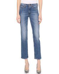 Victoria Beckham Column Leg Jeans - Huron - Lyst