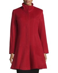 Sofia Cashmere | Wool-cashmere Princess Flared Coat | Lyst