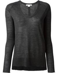 Duffy Scoop Neck Sweater - Lyst
