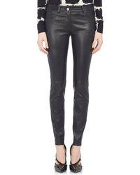 Balenciaga Stretch-Leather Jeans black - Lyst