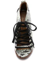 Atelje71 - Savannah Lace Up Booties - Natural - Lyst