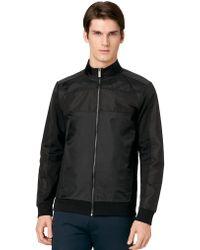Calvin Klein Mixed Media Full Zip Jacket - Lyst