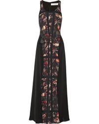 Thakoon Addition - Printed Crepe Maxi Dress - Lyst