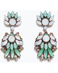 Zara Crystal Jewel Earrings - Lyst