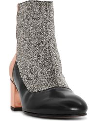 Carmelinas Anais Boot in Black Gray and Metallic Copper