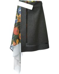 Iceberg Wrap Style Asymmetric Skirt - Lyst