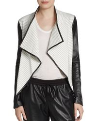 Sachin & Babi Leather-Sleeve Jacket - Lyst