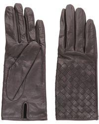 Bottega Veneta Woven Nappa Leather Gloves - Lyst