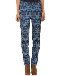 Isabel Marant Corduroy Mesa Skinny Pants blue - Lyst