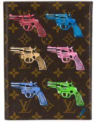 Louis Vuitton Gun Print Portfolio - Blue