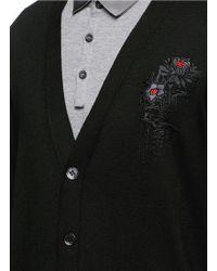 Alexander McQueen   Dripping Flower Embroidery Cardigan   Lyst