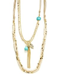 Cara - Four Row Nested Necklace- 40 In - Lyst