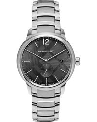 Burberry | Round Stainless Steel Watch | Lyst