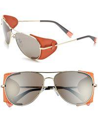 Furla Women'S 58Mm Aviator Sunglasses - Brown Pink/ Brown Gradient - Lyst