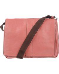 Giordano Frangipani - Two-Tone Leather Messenger Bag - Lyst