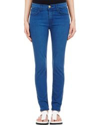 Current/Elliott The High Waist Ankle Skinny Jeans - Lyst