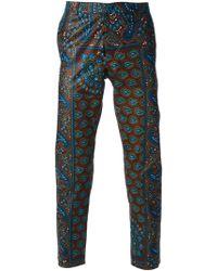 Dent De Man - Paisley Print Trousers - Lyst