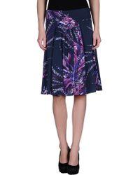 Just Cavalli Knee Length Skirt - Lyst