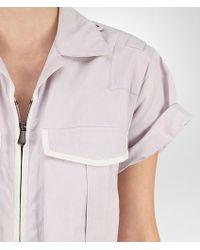 Bottega Veneta Jumpsuit In Rose Buvard Cotton With Mist Embroidered Details - Pink