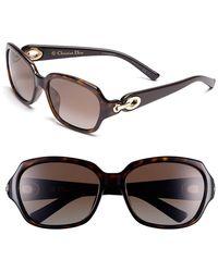 Dior Women'S Christian 56Mm Polarized Sunglasses - Havana - Lyst