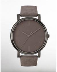 Timex - Ladies' Easy Reader Grey Leather Watch - Lyst