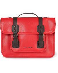 Ted Baker Red Satchel Bag - Lyst