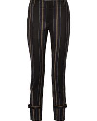 Adam Lippes Striped Wool-Blend Skinny Pants - Lyst