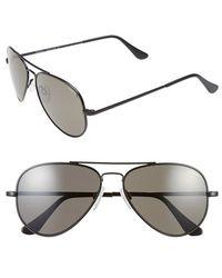 Randolph Engineering 'concorde' 57mm Polarized Aviator Sunglasses - Black