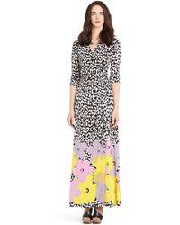 Diane von Furstenberg Pop Wrap Limited Edition Abigail Silk Jersey Wrap Dress - Lyst