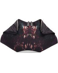Alexander McQueen De-manta Moth-print Clutch Bag - Lyst