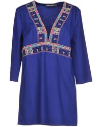 Antik Batik Short Dress blue - Lyst