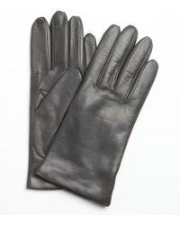Portolano Iron Grey Nappa Leather Itouch Tech Gloves - Lyst