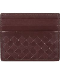 Bottega Veneta Woven Leather Card Holder - Lyst