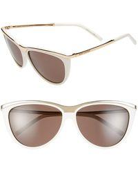 Saint Laurent 59Mm Cat Eye Sunglasses - Lyst