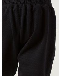 En Noir - Quilted Sweat Pants - Lyst