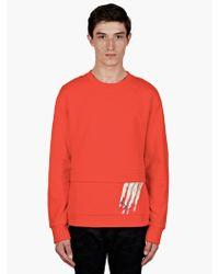 Raf Simons Sterling Ruby Mens Orange Hand Print Sweatshirt - Lyst