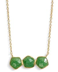 Argento Vivo - Three Stone Frontal Necklace - Lyst