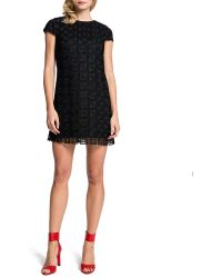 Cynthia Steffe Audrina Cap-sleeve Lace Squares Dress - Lyst