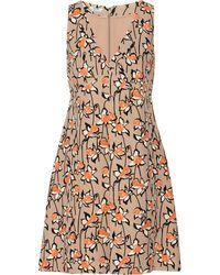 Miu Miu Printed Cady Dress - Lyst
