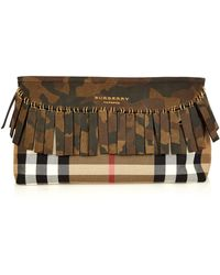 Burberry Prorsum - Camouflage Fringed Clutch - Lyst