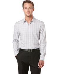 Perry Ellis Modern Fit Plaid Sport Shirt - Lyst