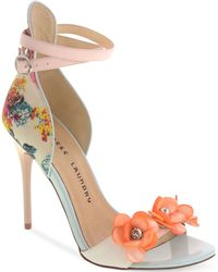 Chinese Laundry Lullaby Two-Piece Flower Beaded Sandals - Lyst