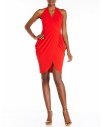 Alexia Admor Red Halter Open Back Dress - Lyst