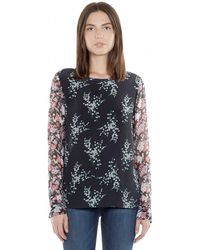 Equipment Liam Tee With Contrast Sleeves - Lyst