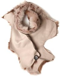 Karl Donoghue - Taupe Pintos Toscana Button Scarf - Lyst
