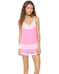 Cheek Frills - Pastel Neon Pajama Set - Coral - Lyst