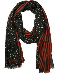 Moschino Viscose and Wool Scarf - Lyst