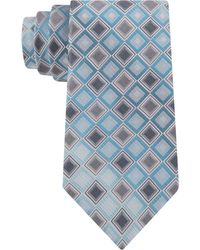 Kenneth Cole Reaction Shaded Geo Classic Tie blue - Lyst