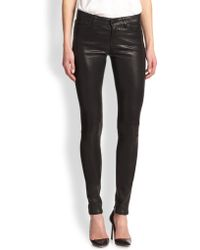 J Brand Stacked Leather Skinny Pants - Lyst